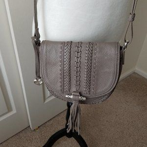 Brighton Gray Leather Crossbody handbag